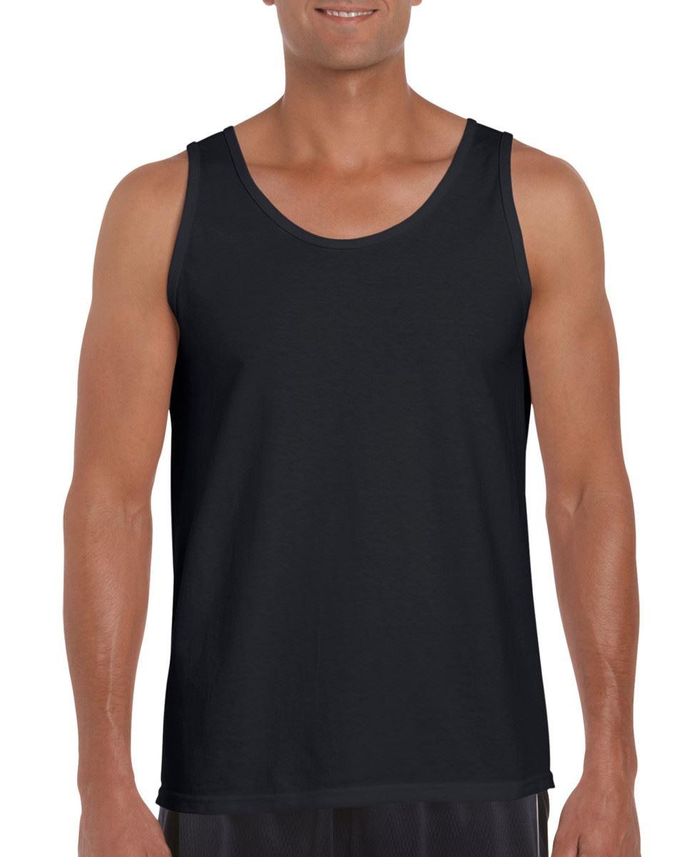 Mens Gildan  Softstyle Adult Tank Top Lightweight Fitness Sports Wear Vest GD012