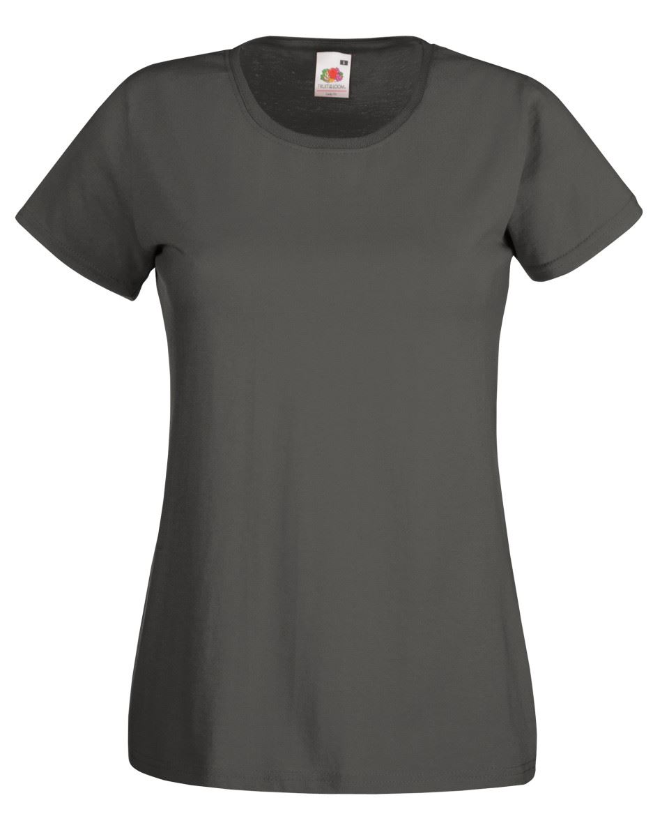 Fruit-of-the-Loom-Womens-Lady-Fit-T-Shirt-Valueweight-Plain-Blank-T-Shirt-Top thumbnail 20