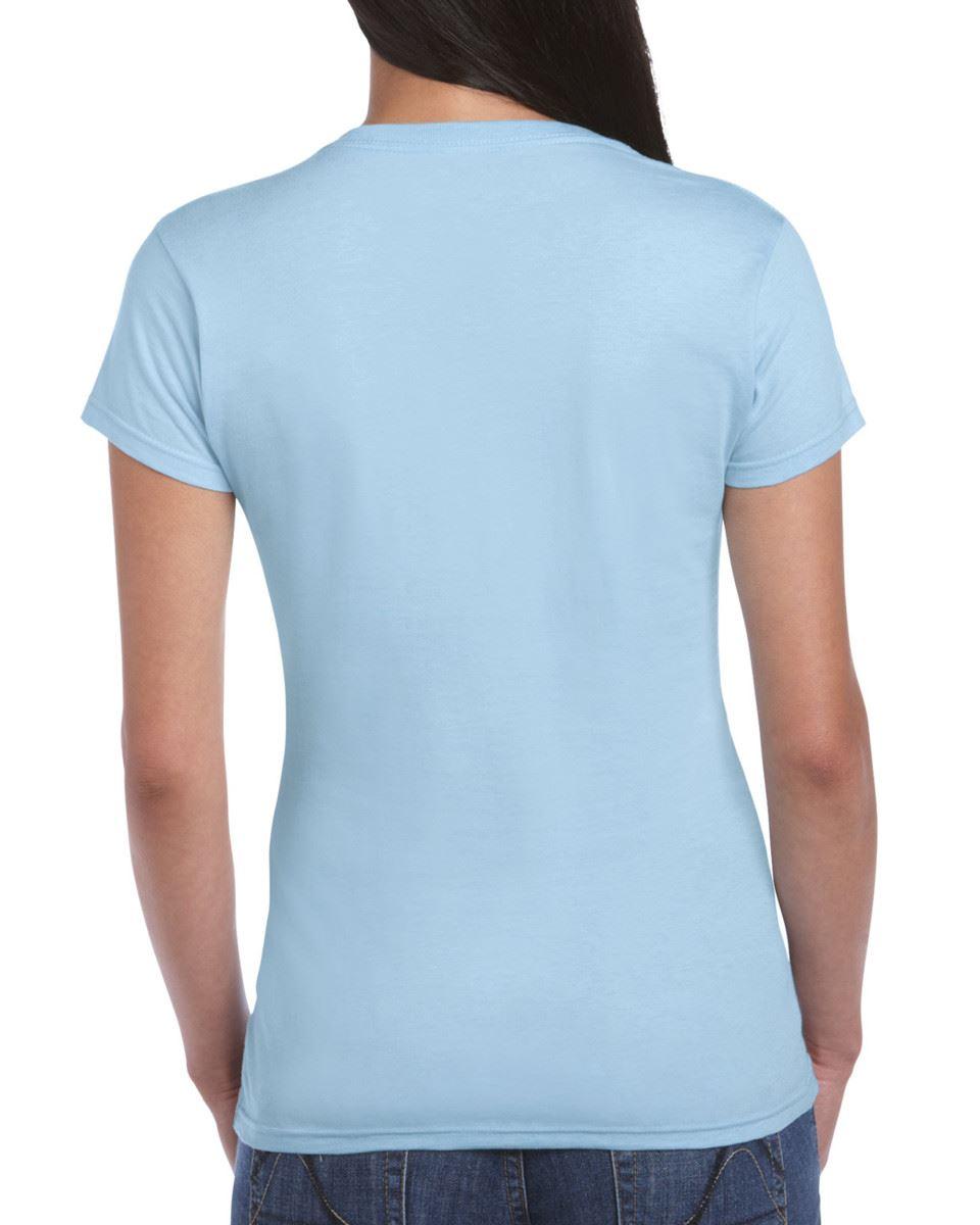 Gildan-Womens-Ladies-Soft-Style-Plain-V-Neck-T-Shirt-Cotton-Tee-Tshirt thumbnail 100