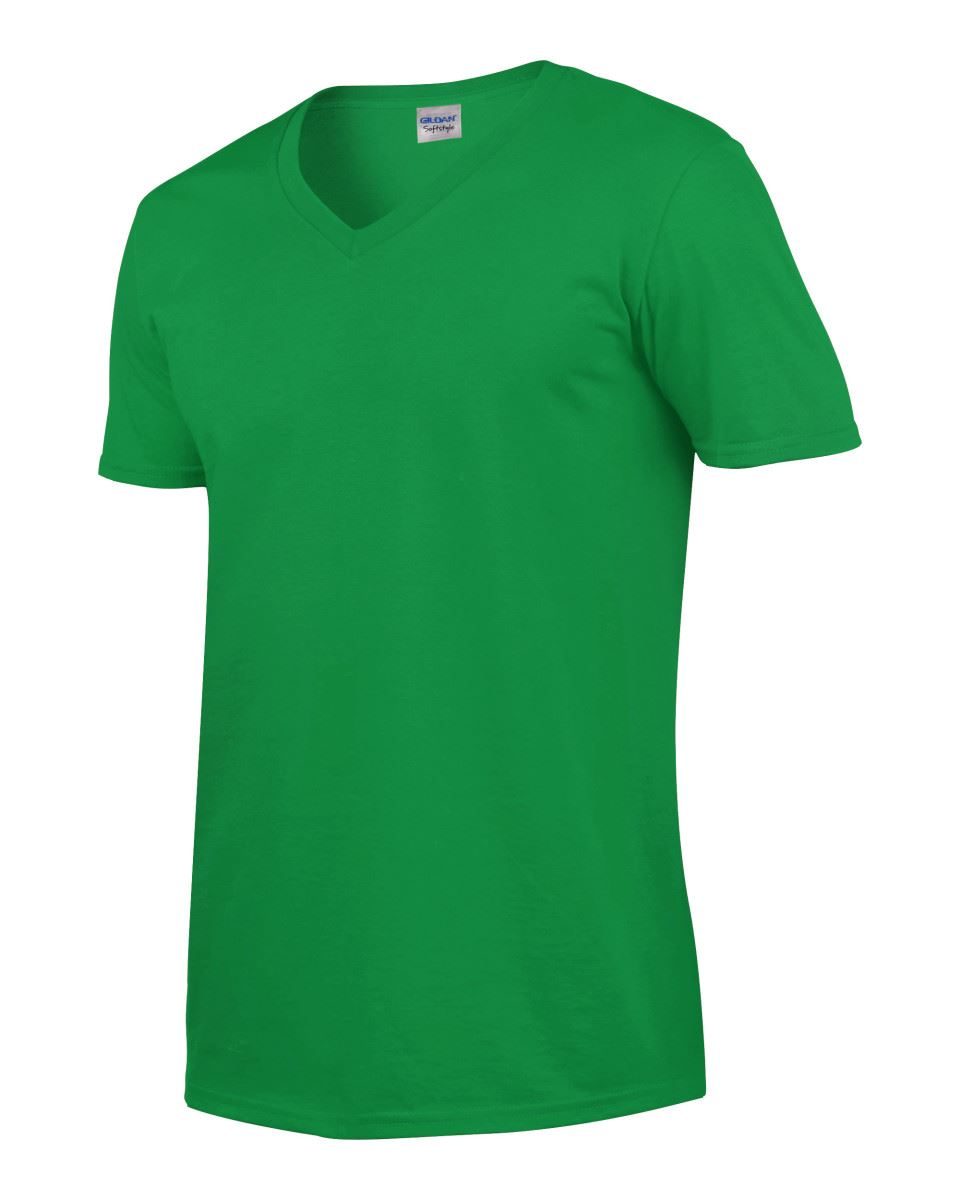Gildan-Mens-Men-039-s-Soft-Style-Plain-V-Neck-T-Shirt-Cotton-Tee-Tshirt thumbnail 37