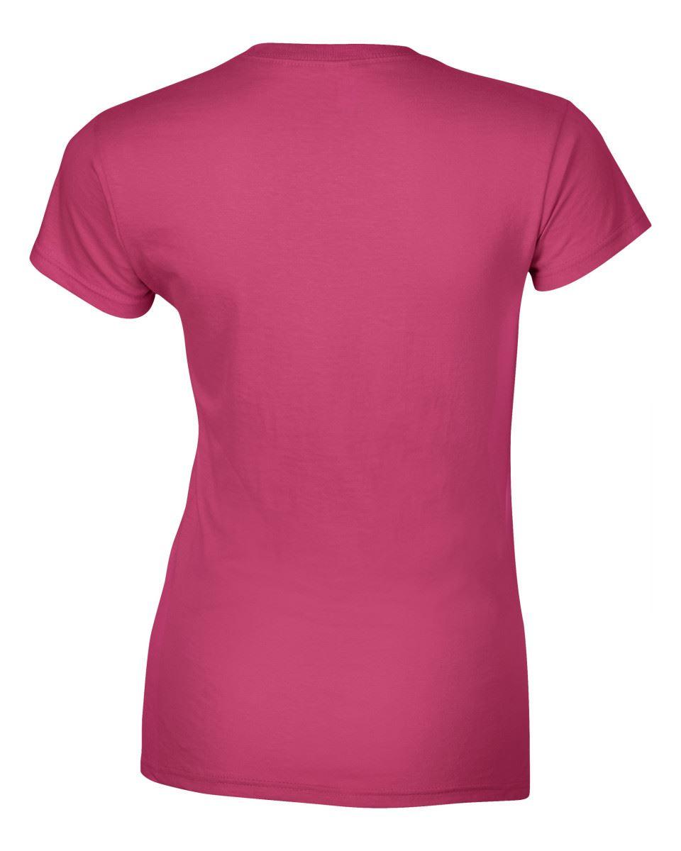 Gildan-Womens-Ladies-Soft-Style-Plain-V-Neck-T-Shirt-Cotton-Tee-Tshirt thumbnail 82
