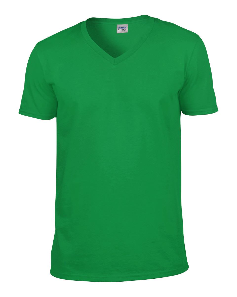 Gildan-Mens-Men-039-s-Soft-Style-Plain-V-Neck-T-Shirt-Cotton-Tee-Tshirt thumbnail 35