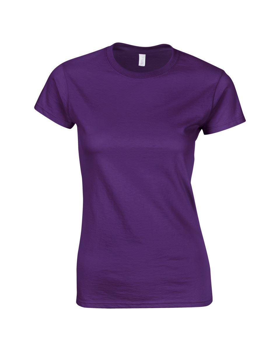 Gildan-Womens-Ladies-Soft-Style-Plain-V-Neck-T-Shirt-Cotton-Tee-Tshirt thumbnail 118