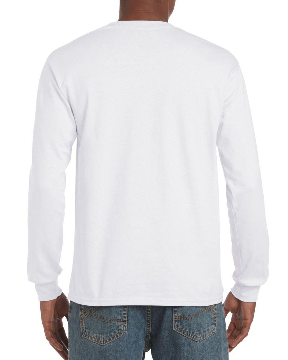 Gildan-Mens-Ultra-Cotton-Adult-Long-Sleeve-Plain-T-Shirt-Tshirt-Cotton-Tee-Shirt thumbnail 4