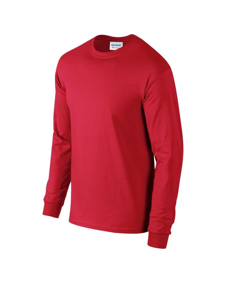 Gildan-Mens-Ultra-Cotton-Adult-Long-Sleeve-Plain-T-Shirt-Tshirt-Cotton-Tee-Shirt thumbnail 26