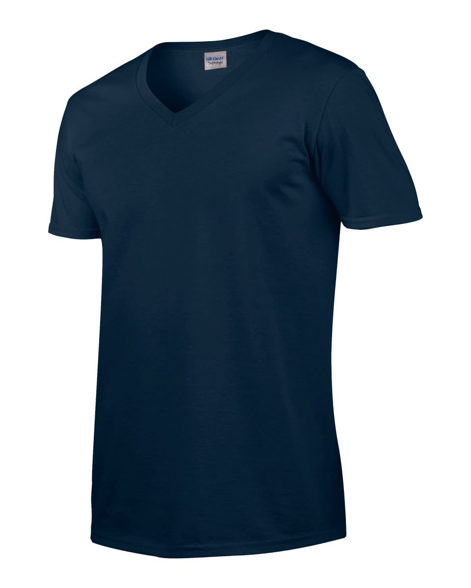 Gildan-Mens-Men-039-s-Soft-Style-Plain-V-Neck-T-Shirt-Cotton-Tee-Tshirt thumbnail 42