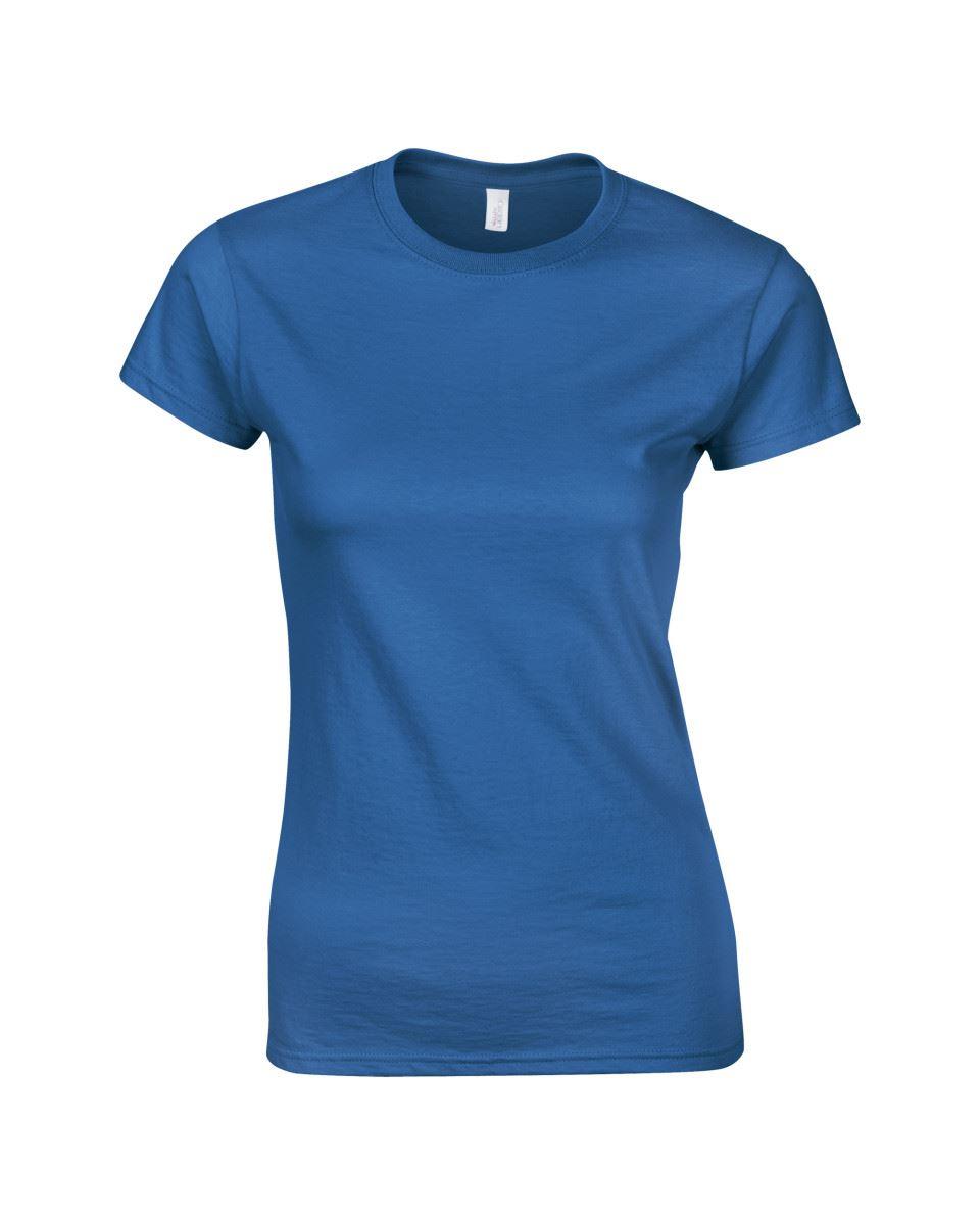 Gildan-Womens-Ladies-Soft-Style-Plain-V-Neck-T-Shirt-Cotton-Tee-Tshirt thumbnail 128