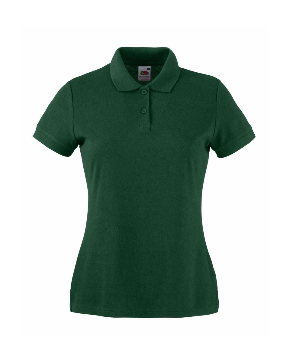 Fruit-Of-The-Loom-Ladies-Lady-Fit-Premium-Pique-Cadat-Collar-Polo-Shirts-T-shirt thumbnail 4