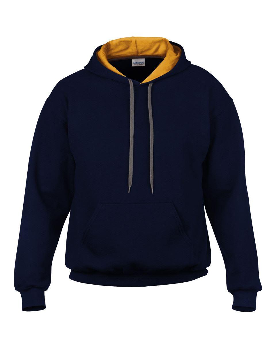 Gildan-Heavy-Blend-Plain-Contrast-Hooded-Sweatshirt-Hoodie-Sweat-Hoody-Jumper thumbnail 13