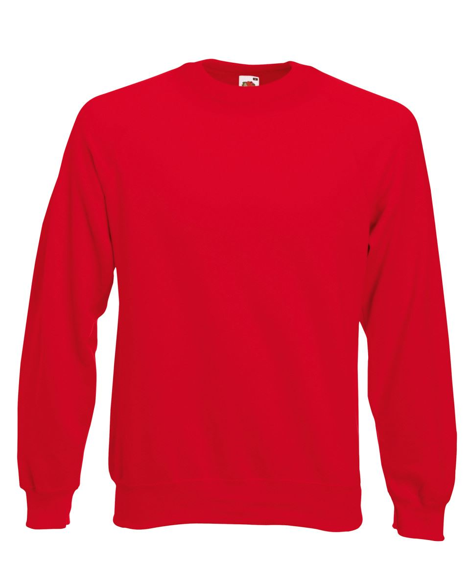 Mens-Sweatshirt-Fruit-Of-The-Loom-Raglan-Sweat-Pullover-Plain-Top-Jumper-Sweater thumbnail 12