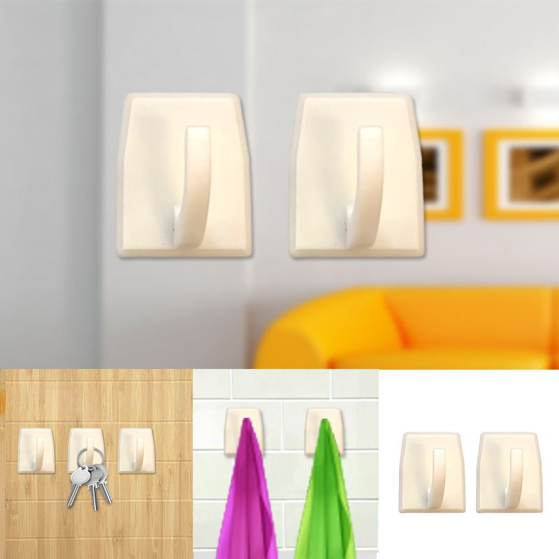 Autoadesivo-bastone-su-Ganci-Marrone-Bianco-Ovale-Cappello-Cappotto-Porta-Muro-appiccicoso-Staffa miniatura 92