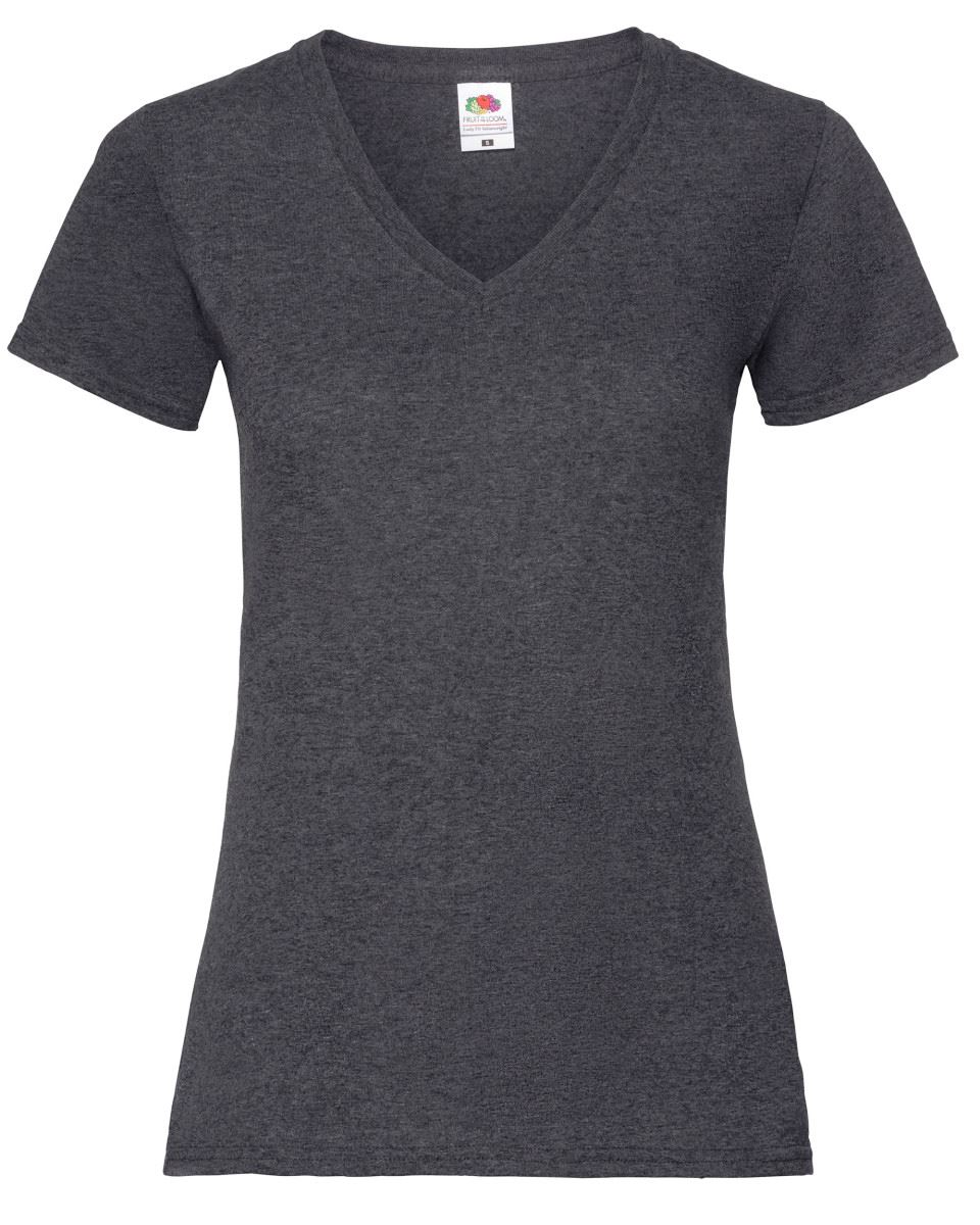 Fruit-Of-The-Loom-LADIES-T-SHIRT-V-NECK-LADY-FIT-COTTON-LYCRA-TOP-TEE-XS-2XL thumbnail 6