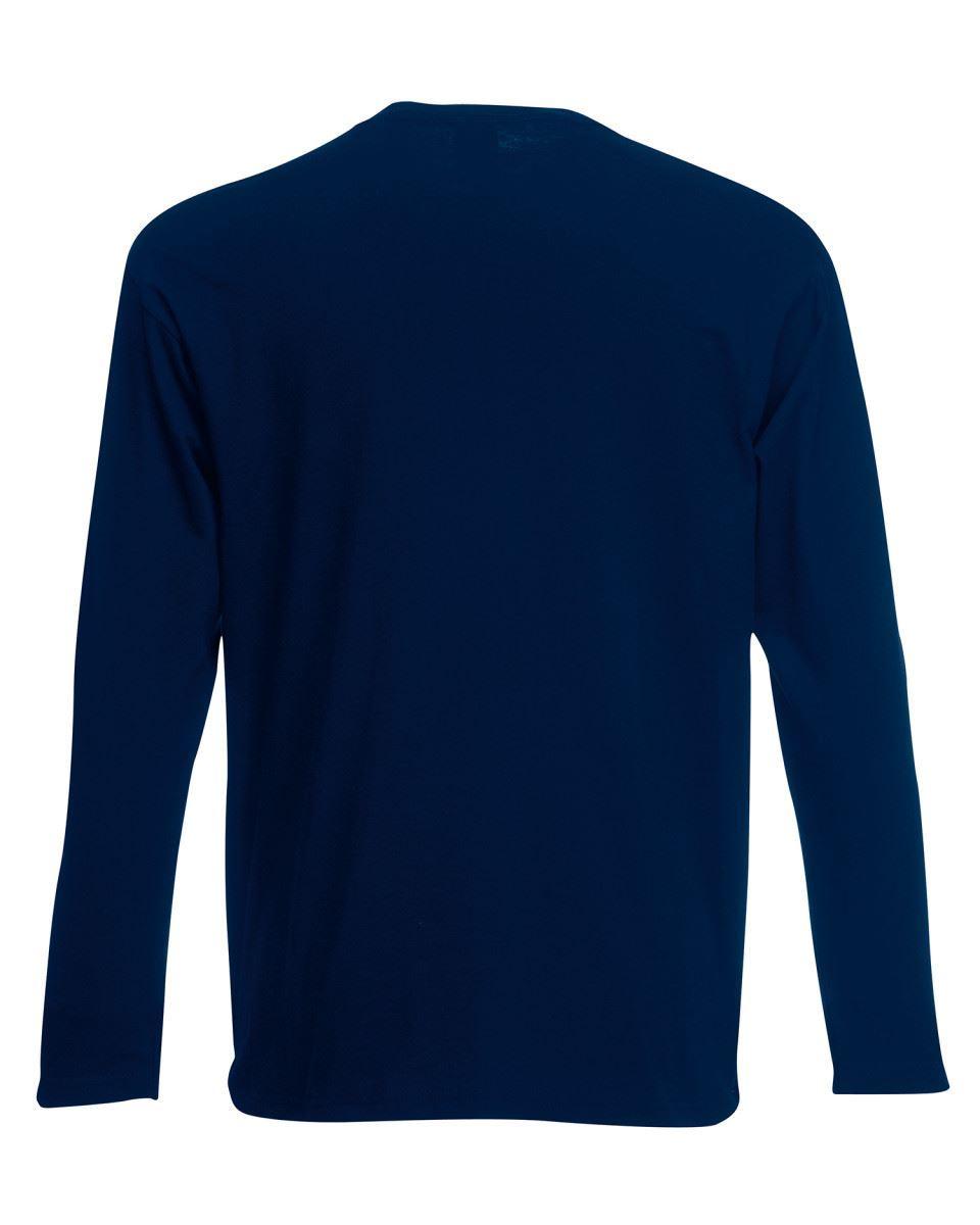 3-Pack-Men-039-s-Fruit-of-the-Loom-Long-Sleeve-T-Shirt-Plain-Tee-Shirt-Top-Cotton thumbnail 35