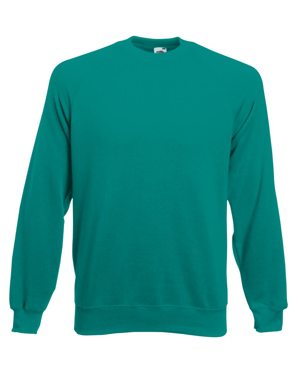 Mens-Sweatshirt-Fruit-Of-The-Loom-Raglan-Sweat-Pullover-Plain-Top-Jumper-Sweater thumbnail 22