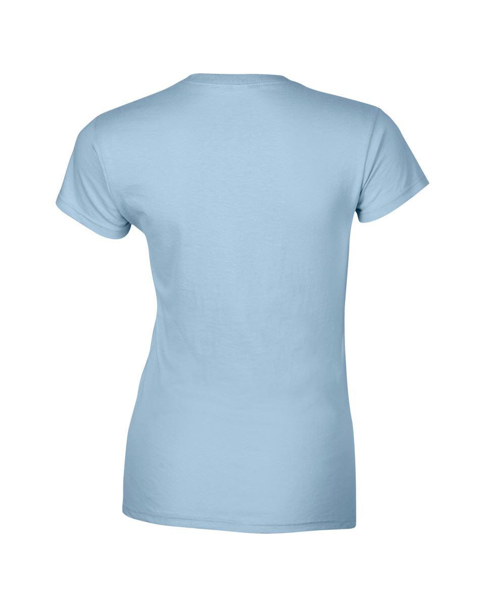 Gildan-Womens-Ladies-Soft-Style-Plain-V-Neck-T-Shirt-Cotton-Tee-Tshirt thumbnail 102