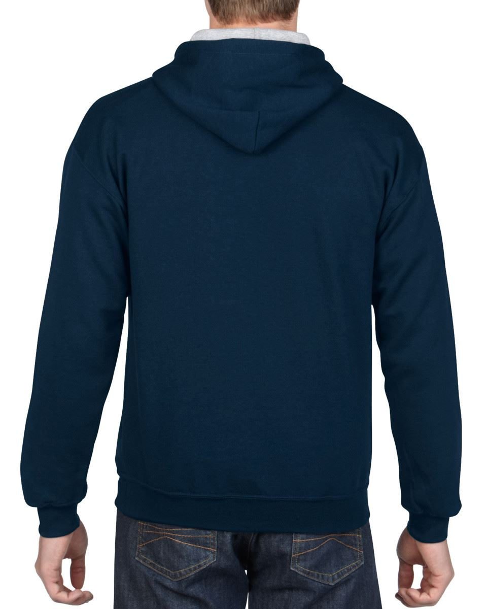 Gildan-Heavy-Blend-Plain-Contrast-Hooded-Sweatshirt-Hoodie-Sweat-Hoody-Jumper thumbnail 22