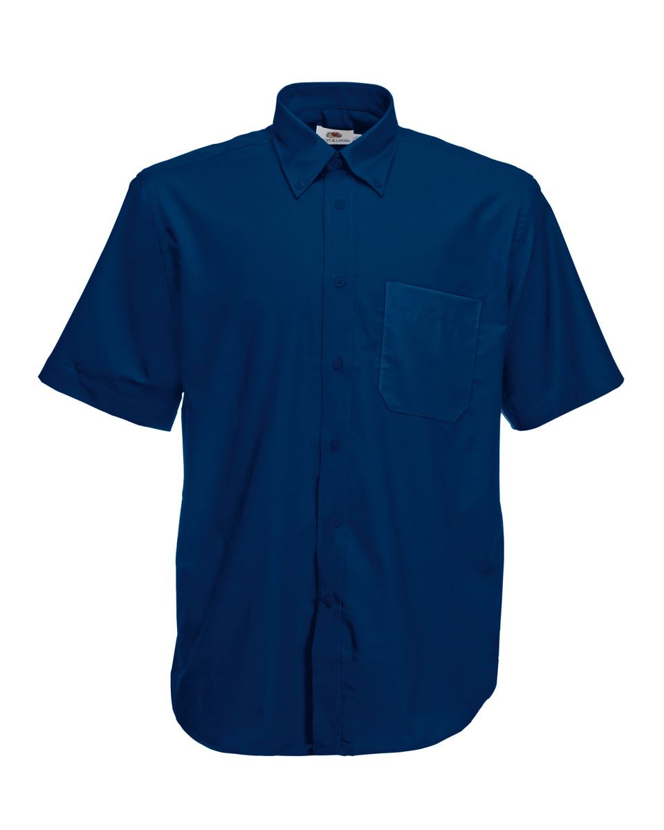 Fruit-of-the-Loom-Mens-Classic-Oxford-Short-Sleeve-Smart-Business-Work-Shirt-New thumbnail 13