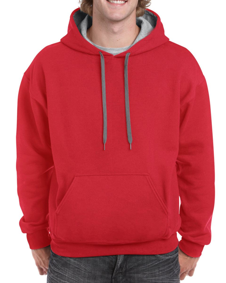 Gildan-Heavy-Blend-Plain-Contrast-Hooded-Sweatshirt-Hoodie-Sweat-Hoody-Jumper thumbnail 26