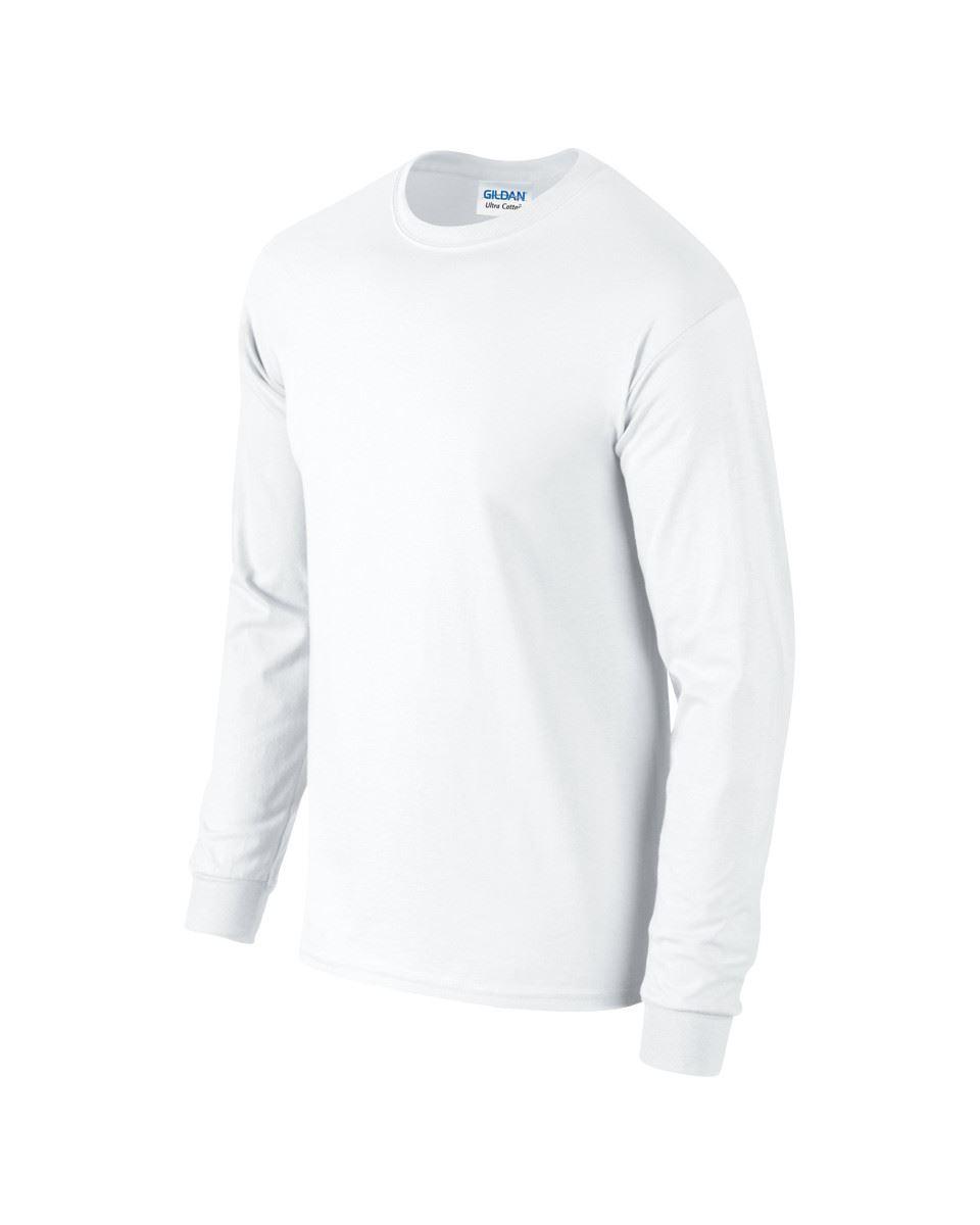 c0f8a1a4e Details about Gildan Mens Ultra Cotton Adult Long Sleeve Plain T Shirt  Tshirt Cotton Tee Shirt