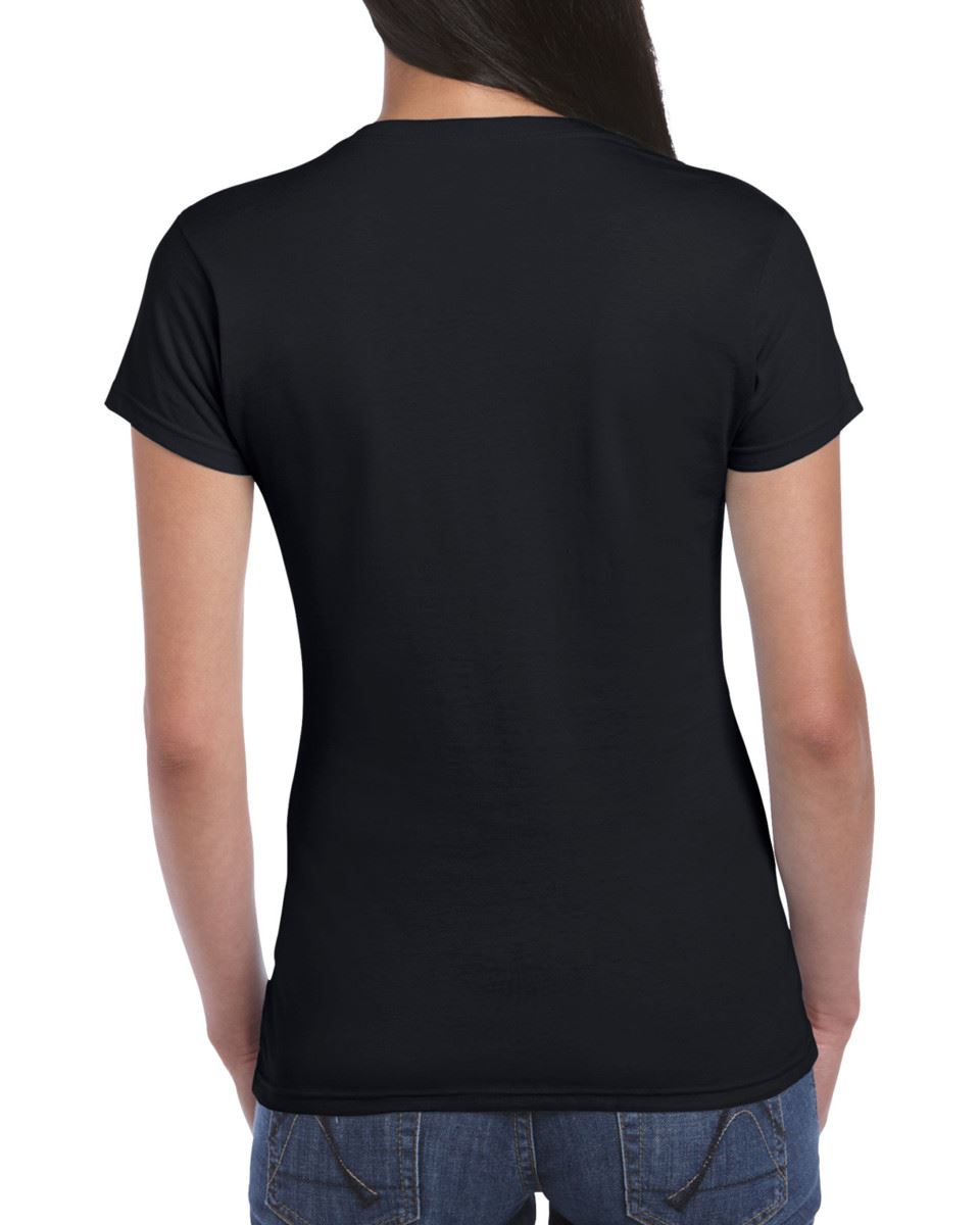 Gildan-Womens-Ladies-Soft-Style-Plain-V-Neck-T-Shirt-Cotton-Tee-Tshirt thumbnail 8