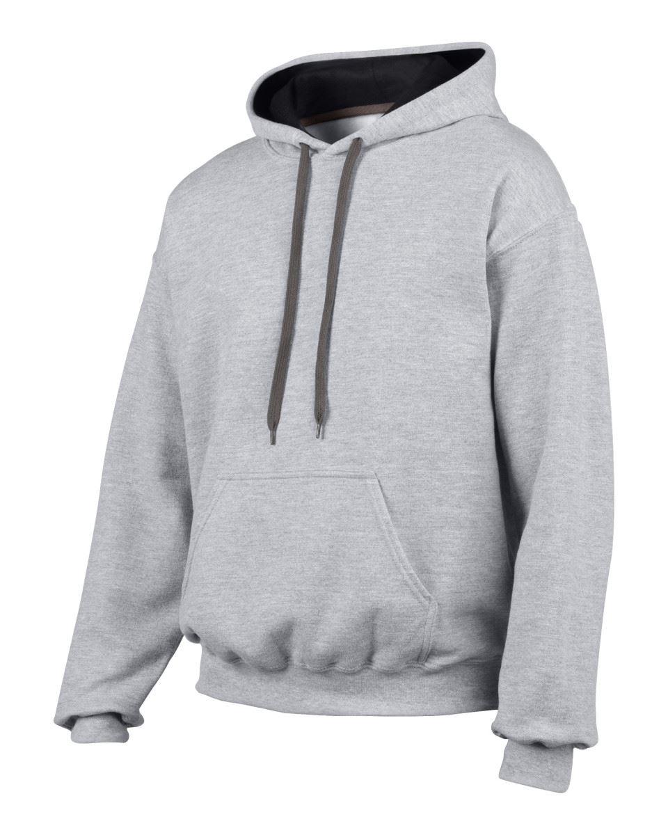 Gildan-Heavy-Blend-Plain-Contrast-Hooded-Sweatshirt-Hoodie-Sweat-Hoody-Jumper thumbnail 35