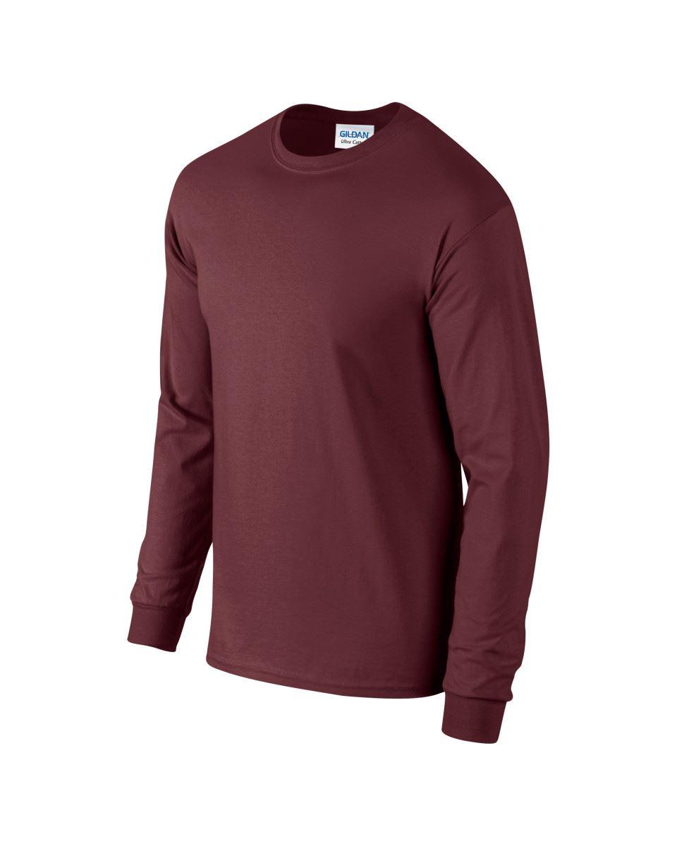 Gildan-Mens-Ultra-Cotton-Adult-Long-Sleeve-Plain-T-Shirt-Tshirt-Cotton-Tee-Shirt thumbnail 91