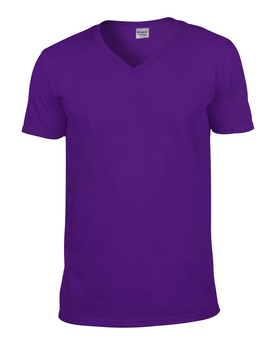 Gildan-Mens-Men-039-s-Soft-Style-Plain-V-Neck-T-Shirt-Cotton-Tee-Tshirt thumbnail 45