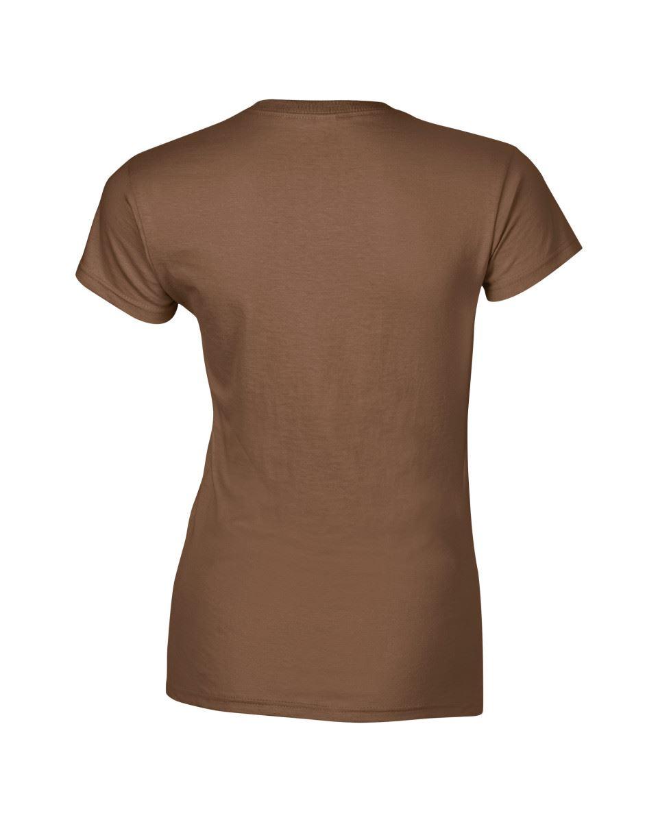 Gildan-Womens-Ladies-Soft-Style-Plain-V-Neck-T-Shirt-Cotton-Tee-Tshirt thumbnail 45
