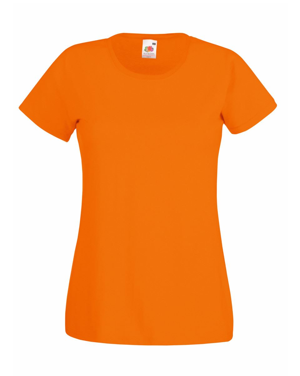 Fruit-of-the-Loom-Womens-Lady-Fit-T-Shirt-Valueweight-Plain-Blank-T-Shirt-Top thumbnail 28