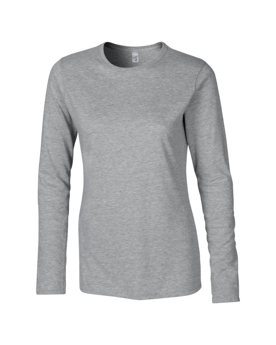 GILDAN-softsyle-Femmes-T-shirt-homme-a-manches-longues-100-Coton-Doux-Decontracte-Femme miniature 40