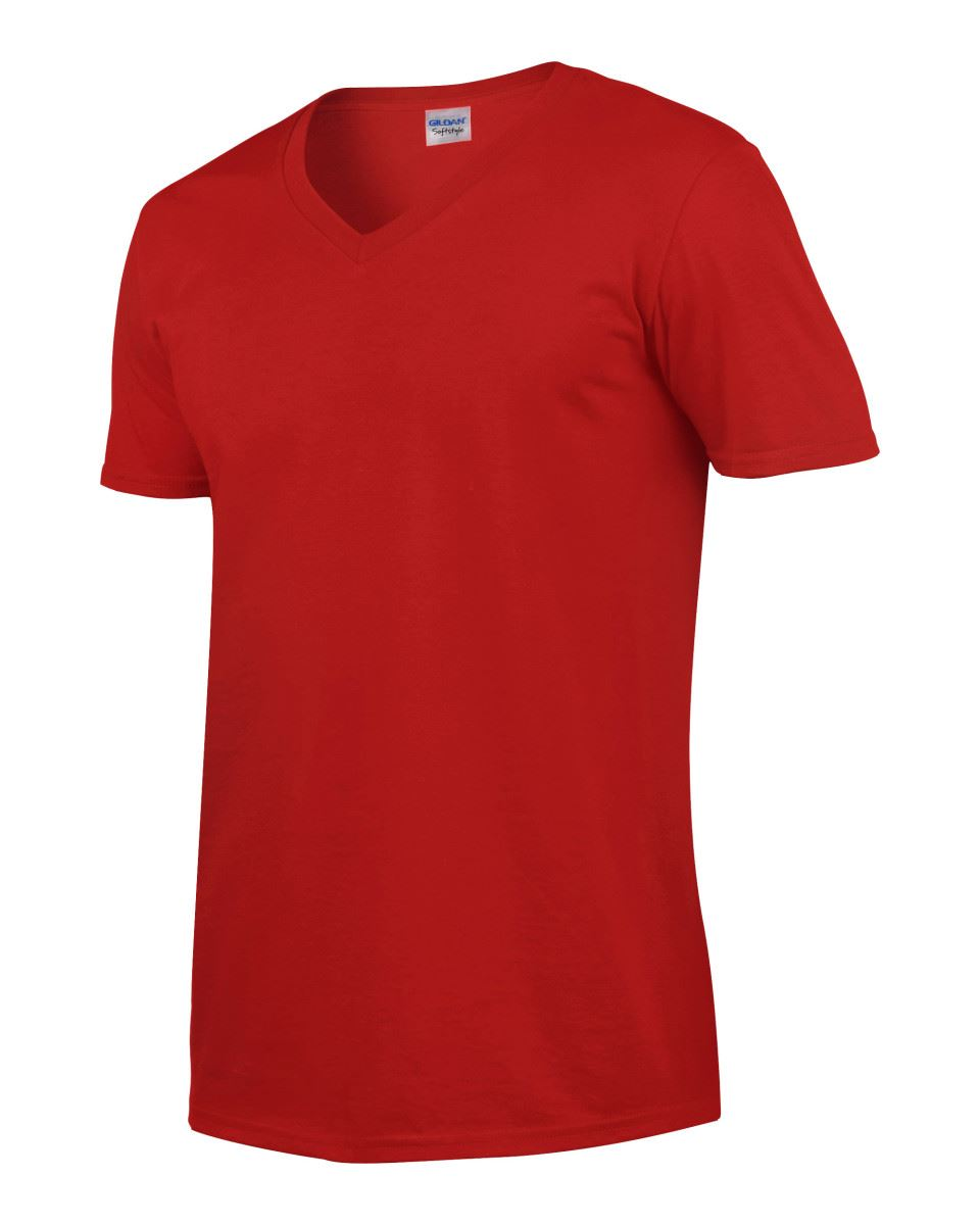 Gildan-Mens-Men-039-s-Soft-Style-Plain-V-Neck-T-Shirt-Cotton-Tee-Tshirt thumbnail 52