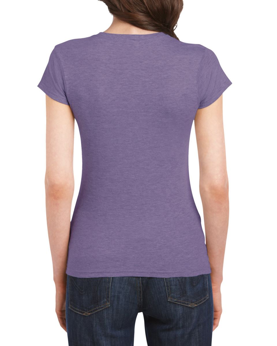 Gildan-Womens-Ladies-Soft-Style-Plain-V-Neck-T-Shirt-Cotton-Tee-Tshirt thumbnail 75