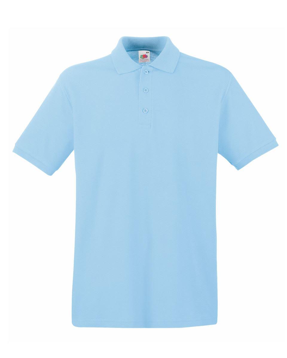 Mens-Polo-Shirts-Fruit-of-the-Loom-Premium-Polo-100-Cotton-Polo-Shirt-SS255 thumbnail 42