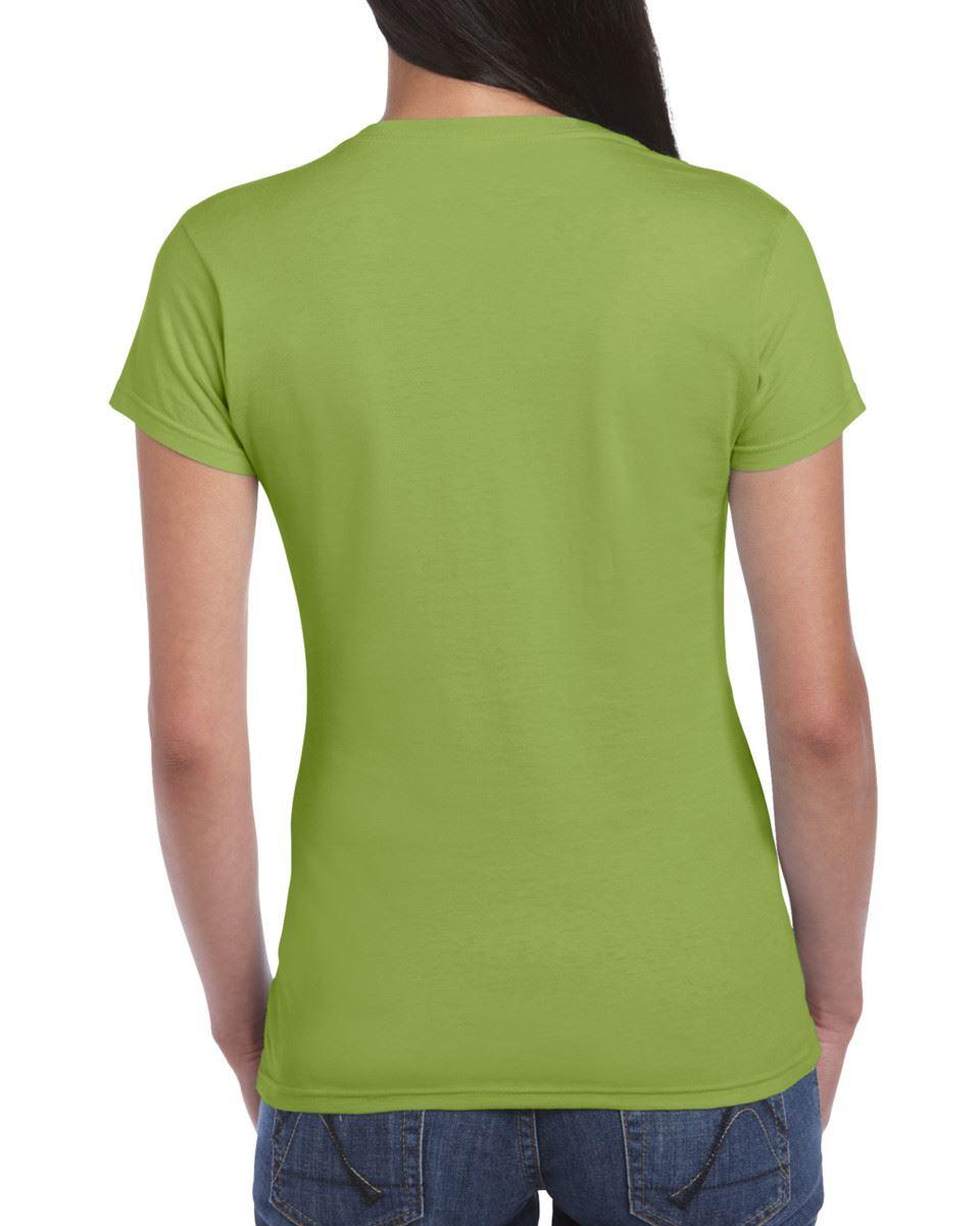 Gildan-Womens-Ladies-Soft-Style-Plain-V-Neck-T-Shirt-Cotton-Tee-Tshirt thumbnail 95