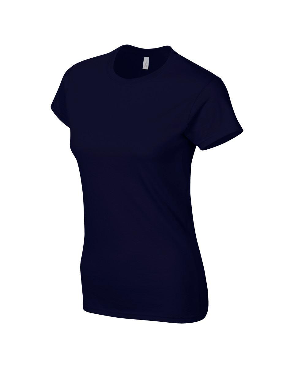Gildan-Womens-Ladies-Soft-Style-Plain-V-Neck-T-Shirt-Cotton-Tee-Tshirt thumbnail 115