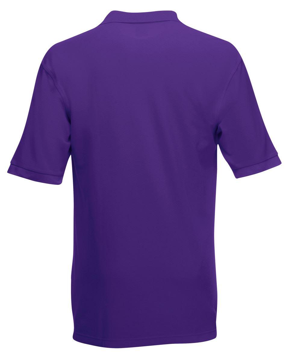 Mens-Polo-Shirts-Fruit-of-the-Loom-Premium-Polo-100-Cotton-Polo-Shirt-SS255 thumbnail 37