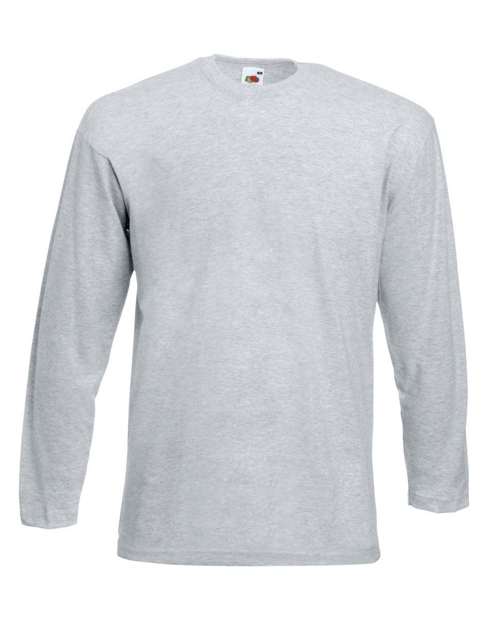 Men-039-s-Fruit-of-the-Loom-Long-Sleeve-T-Shirt-Plain-Tee-Shirt-Top-Cotton-S-5XL thumbnail 9