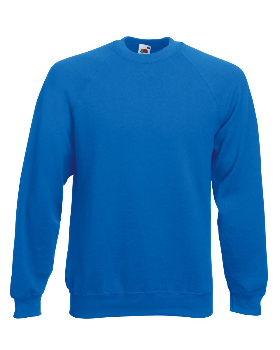 Mens-Sweatshirt-Fruit-Of-The-Loom-Raglan-Sweat-Pullover-Plain-Top-Jumper-Sweater thumbnail 10