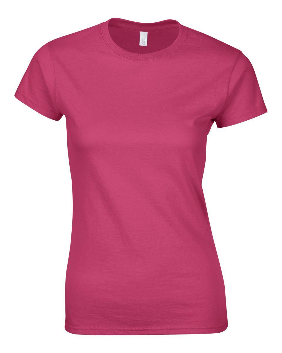 Gildan-Womens-Ladies-Soft-Style-Plain-V-Neck-T-Shirt-Cotton-Tee-Tshirt thumbnail 81