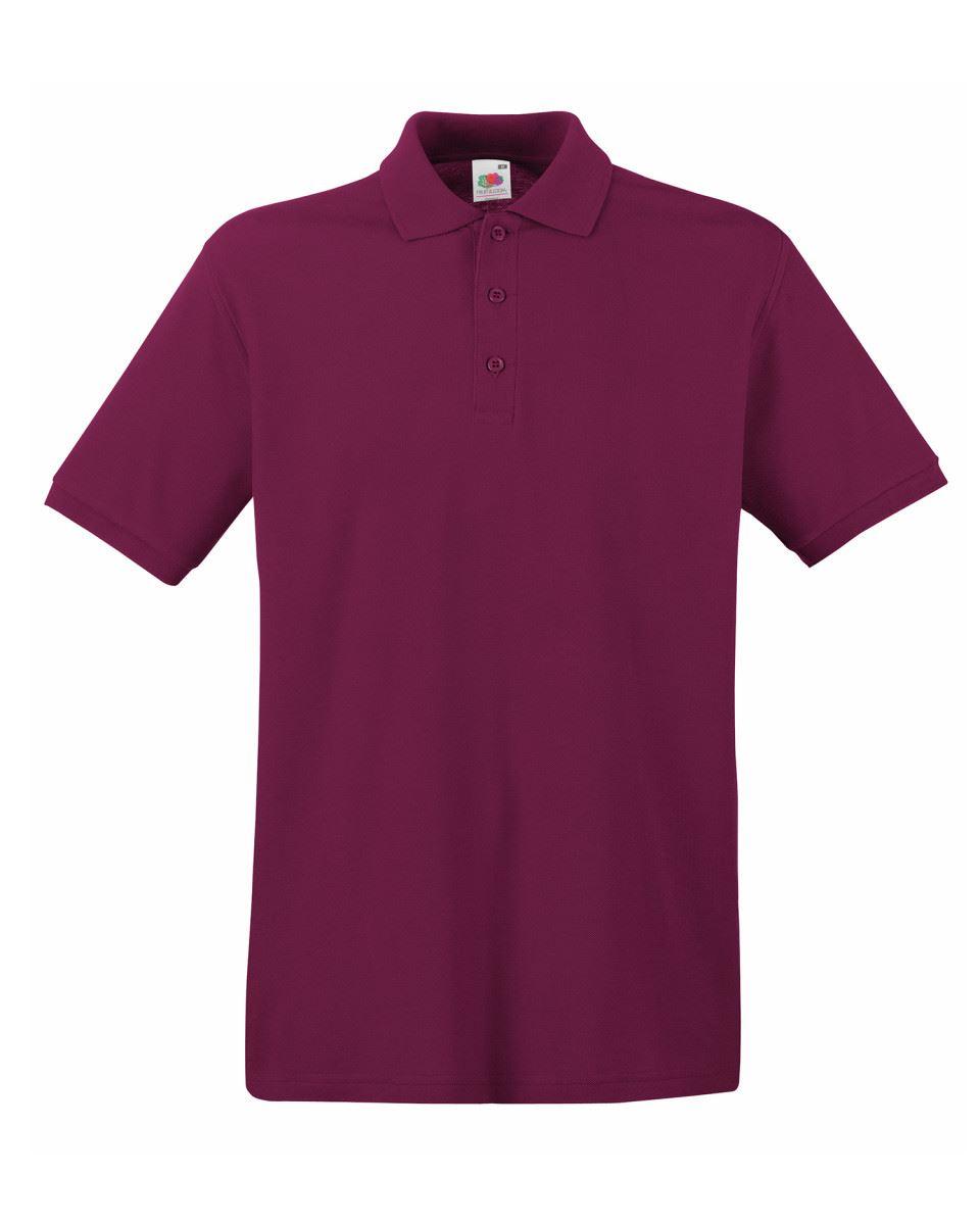 Mens-Polo-Shirts-Fruit-of-the-Loom-Premium-Polo-100-Cotton-Polo-Shirt-SS255 thumbnail 12