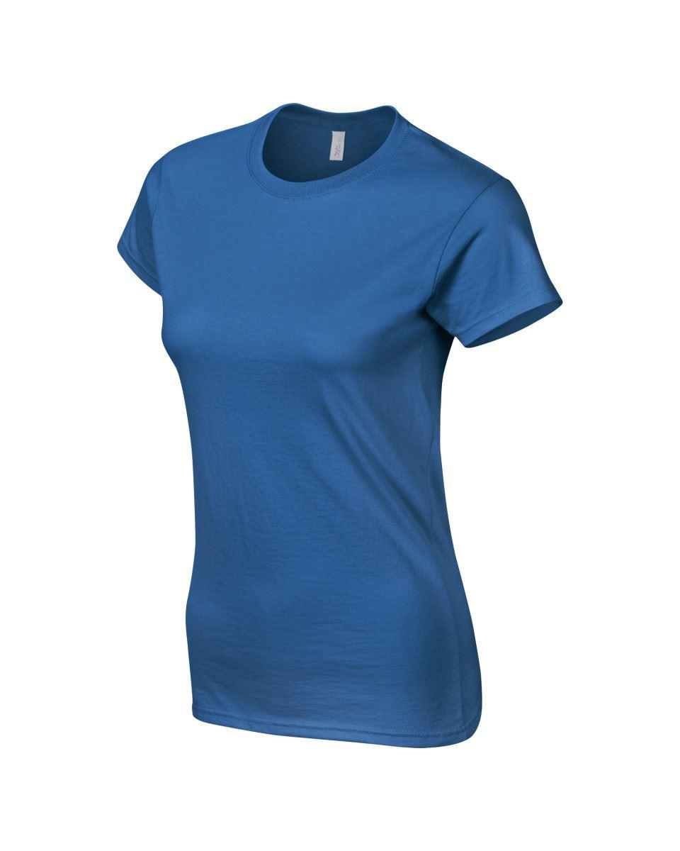 Gildan-Womens-Ladies-Soft-Style-Plain-V-Neck-T-Shirt-Cotton-Tee-Tshirt thumbnail 130