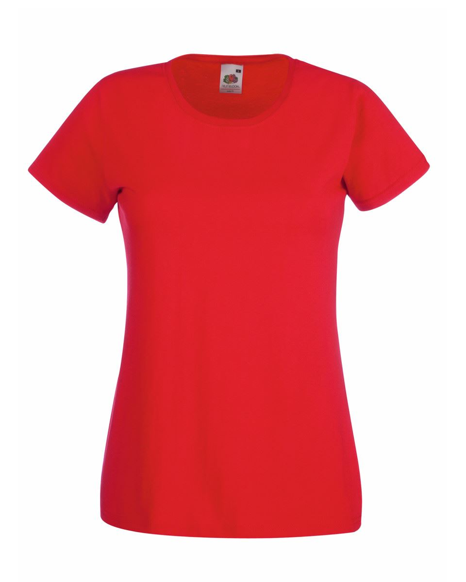 Fruit-of-the-Loom-Womens-Lady-Fit-T-Shirt-Valueweight-Plain-Blank-T-Shirt-Top thumbnail 32