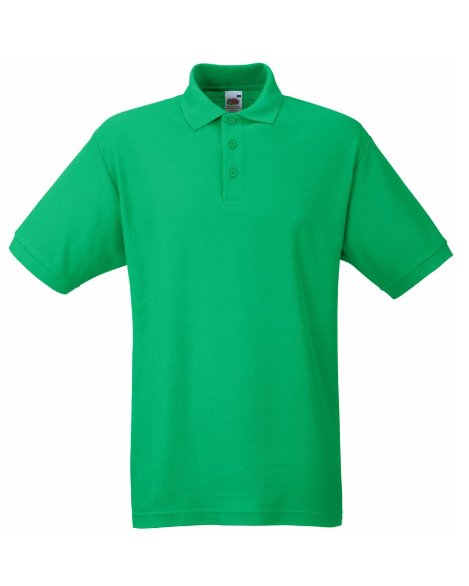 Fruit-of-the-Loom-Plain-Cotton-Mens-Polo-Shirts-T-Shirt-Short-Sleeve-Tshirt thumbnail 14