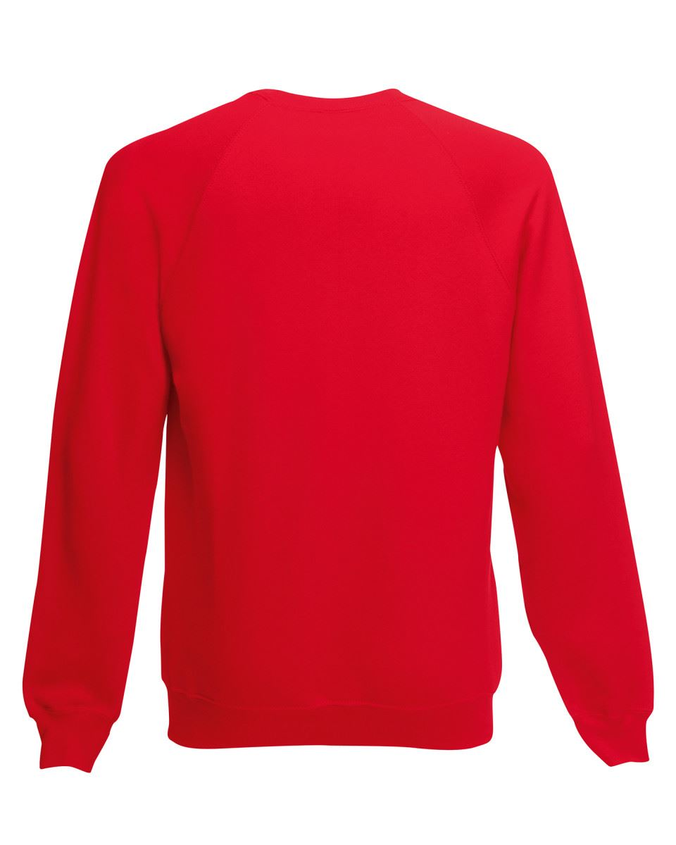 Mens-Sweatshirt-Fruit-Of-The-Loom-Raglan-Sweat-Pullover-Plain-Top-Jumper-Sweater thumbnail 13