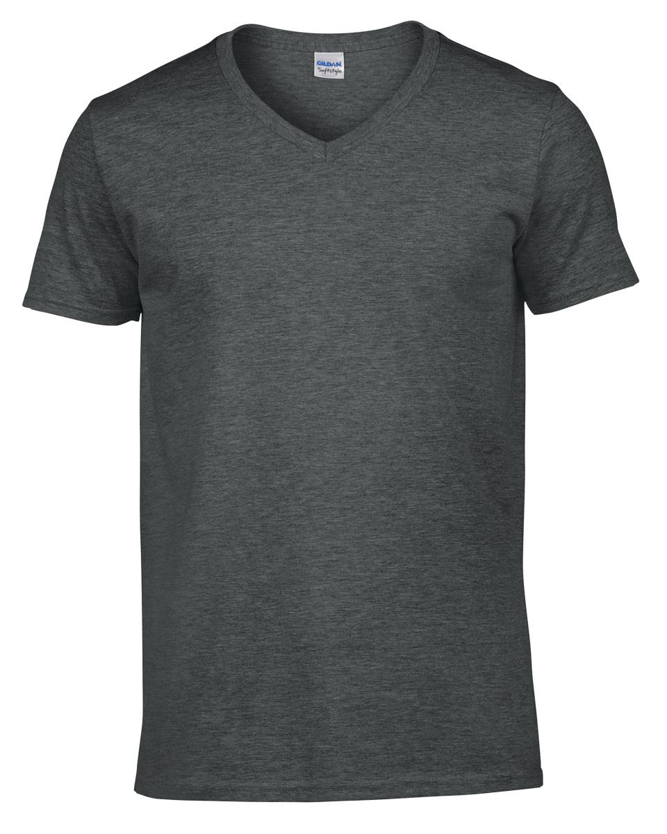 Gildan-Mens-Men-039-s-Soft-Style-Plain-V-Neck-T-Shirt-Cotton-Tee-Tshirt thumbnail 20