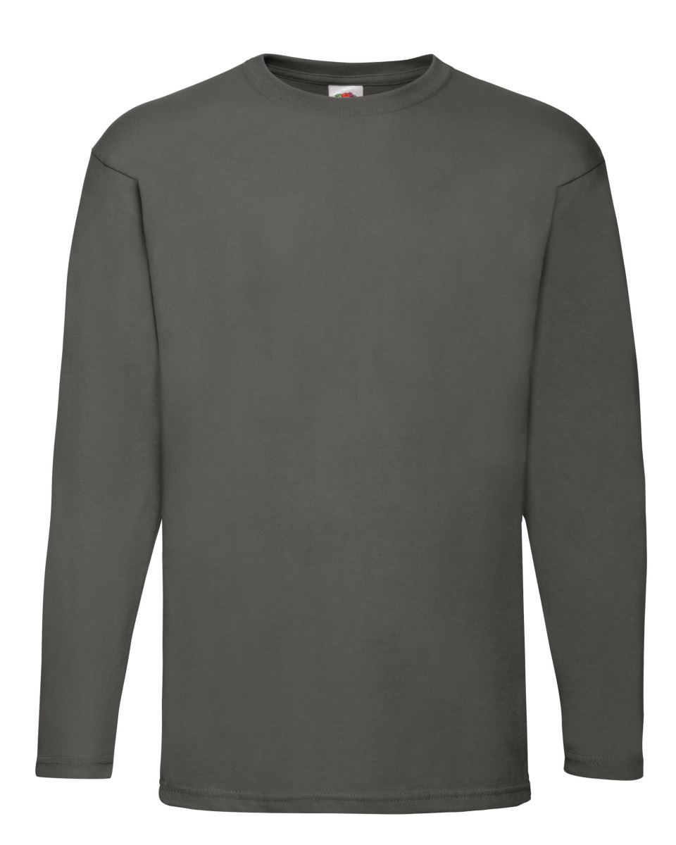 Men-039-s-Fruit-of-the-Loom-Long-Sleeve-T-Shirt-Plain-Tee-Shirt-Top-Cotton-S-5XL thumbnail 11
