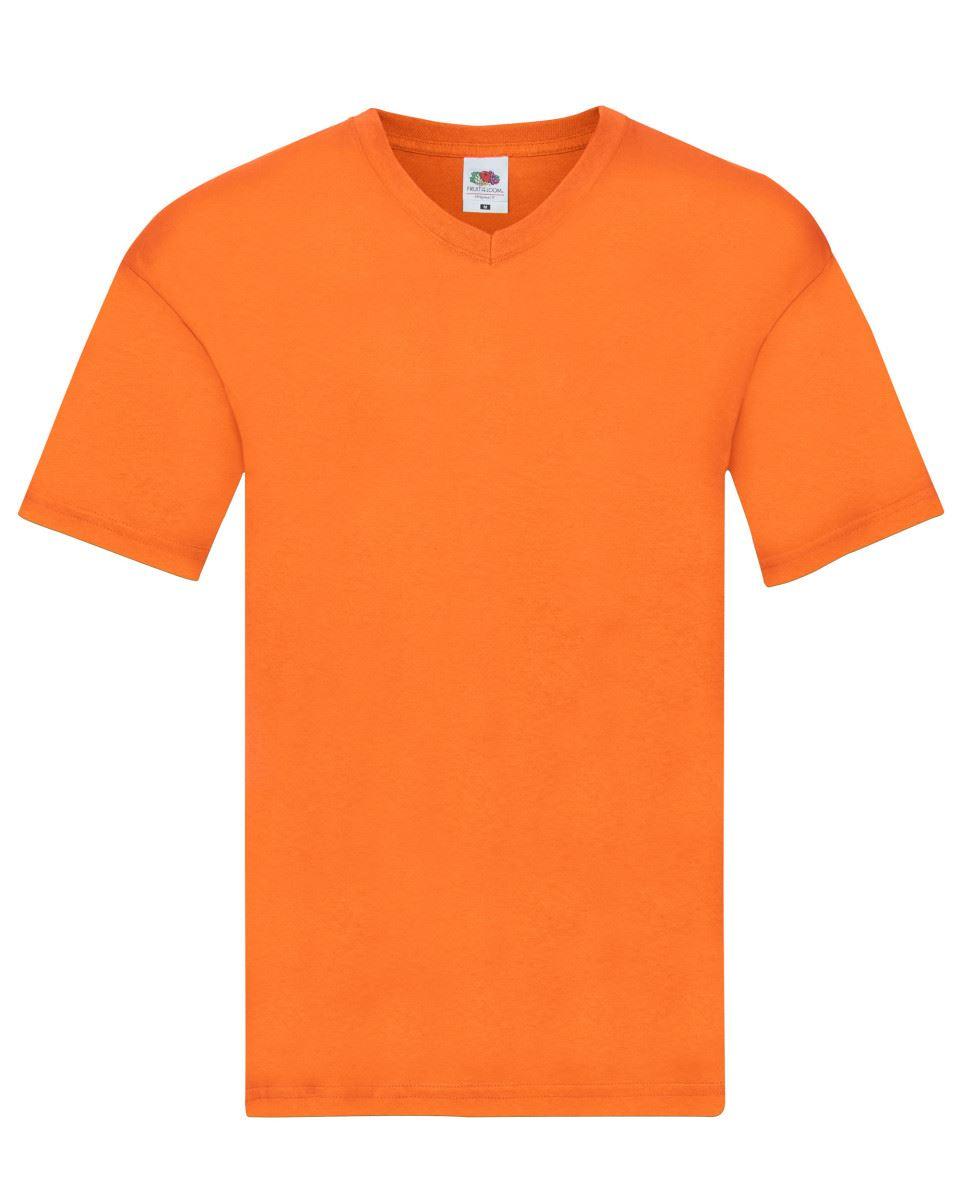 Fruit-Of-The-Loom-Men-039-s-Women-039-s-Original-Plain-Top-V-Neck-T-Shirt-Cotton thumbnail 44