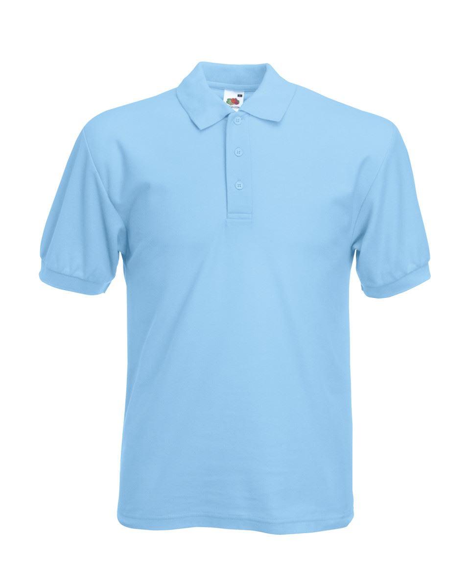 Fruit-of-the-Loom-Plain-Cotton-Mens-Polo-Shirts-T-Shirt-Short-Sleeve-Tshirt thumbnail 26