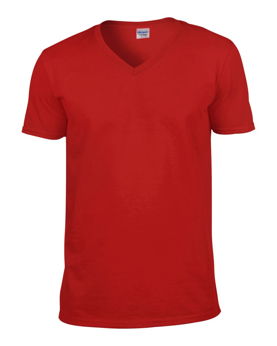 Gildan-Mens-Men-039-s-Soft-Style-Plain-V-Neck-T-Shirt-Cotton-Tee-Tshirt thumbnail 50