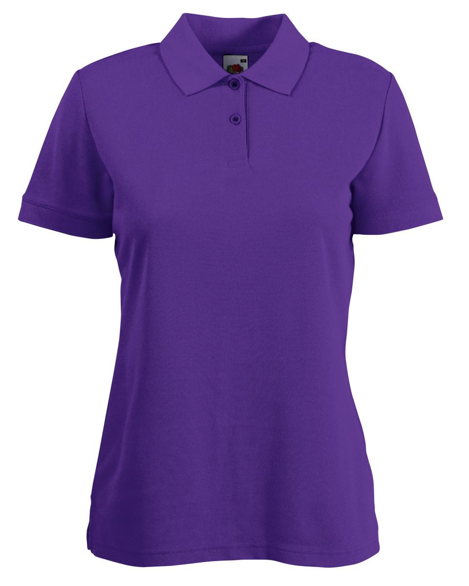 Fruit-Of-The-Loom-Ladies-Lady-Fit-Premium-Pique-Cadat-Collar-Polo-Shirts-T-shirt thumbnail 14